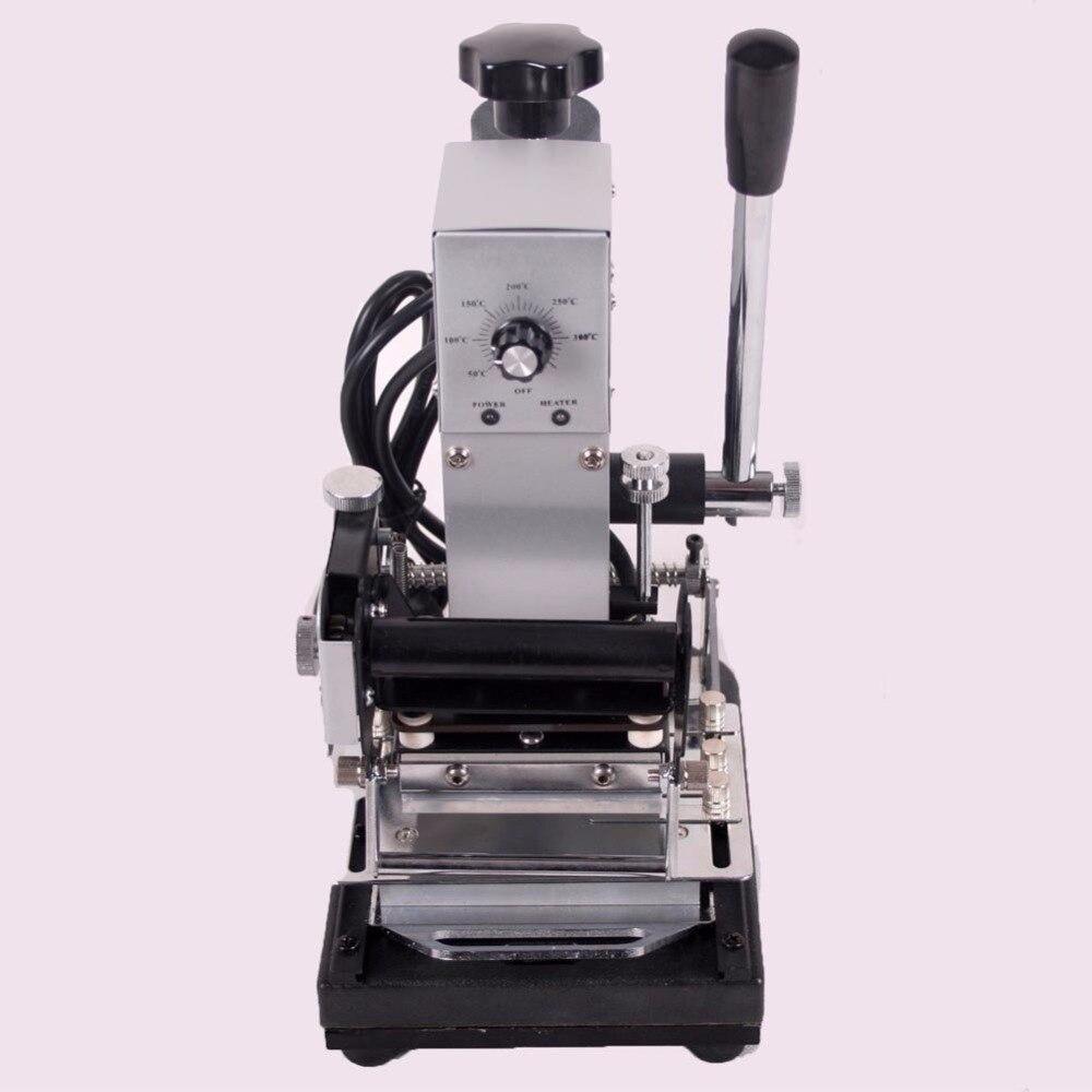 En gros Prix Bas 220 V/110 V Manuel Chaude Feuille D'or Estampage Machine, carte Benne Bronzage Machine pour le Cuir, PVC Carte