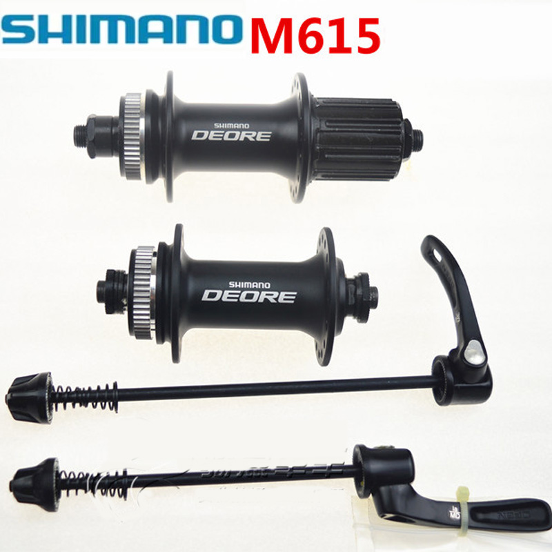 Shimano Deore M615 Front Rear Disc Brake Hubs Quick Release Skewer 32H 100*135