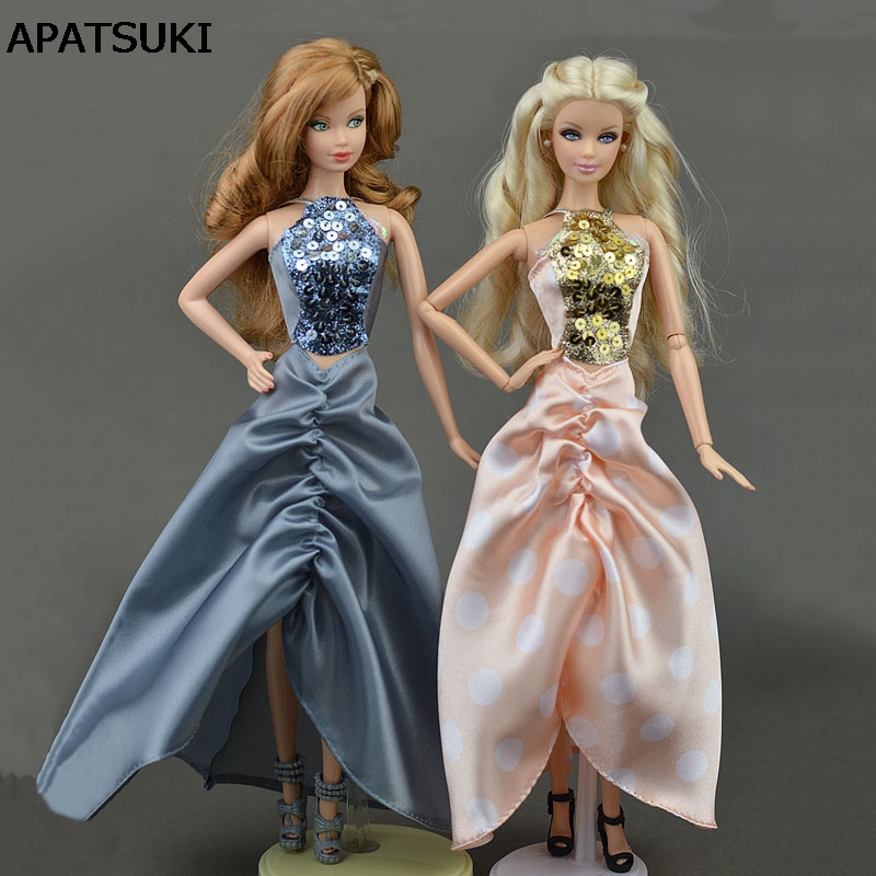 Fashion Doll Evening Dress Clothes Outfits for 1//6 BJD Barbie Doll Kids Toy