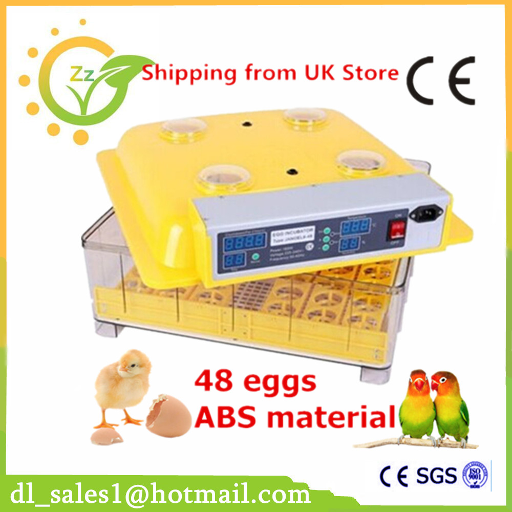Industrial Brooder Hatchery Machine Fully Automatic Egg Incubator For Hatching 48 Chicken Duck Eggs china newest brooder automatic 48 eggs incubator hatchery auto hatchers machine indicator light