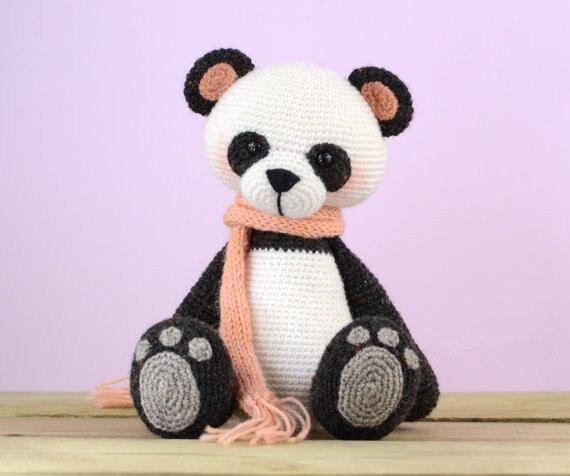 Crochet My Little Panda  toy doll rattle baby gift