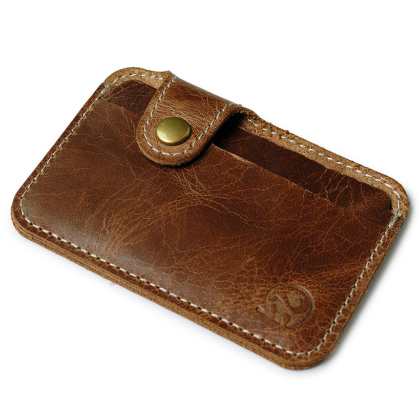 Wholesale Retro Leather Card Wallet Men Business Bank Card Holder Thin Credit Card Case Convenient Small Cards Pack Cash Pocket qubiclife 3d hollow stereo card manual creative wardrobe trend cards wholesale