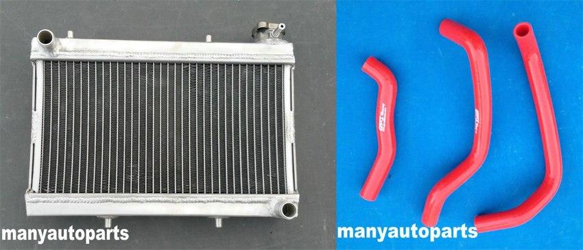 Aluminum Radiator and Red hose for Honda TRX250 TRX250R FourTrax 250 1986 1987