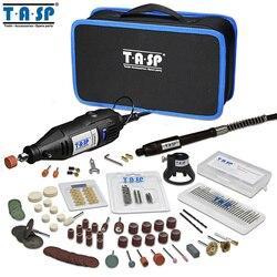 TASP 220 V 130 W Ferramenta Rotativa Conjunto de Mini Furadeira Elétrica Kit Gravador com Anexos e Acessórios Ferramentas De Poder para projetos de artesanato