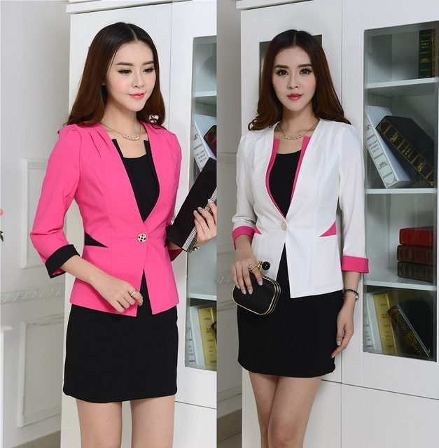 New Spring Autumn Formal Uniforms Suits Blazer And Dress