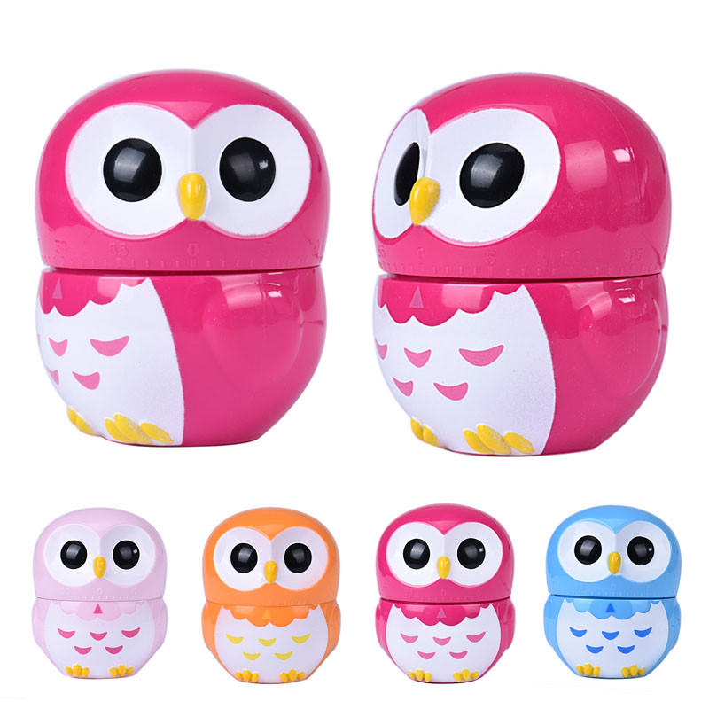 2018 new kitchen timers owl egg dial timer 60 minute call