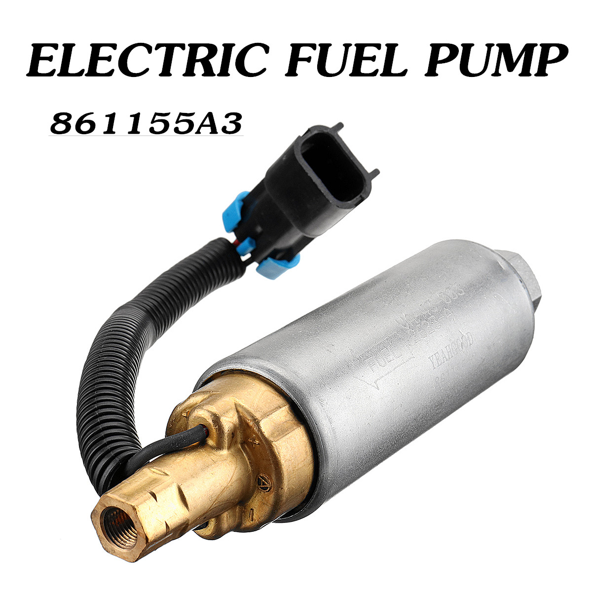 861155A3 Boat Electric Fuel Pump for Mercury Mercruiser 4.3 5.0 5.7 V6 V8 Carb Threaded Operation Pressure is 9psi-10 psi 16x4cm861155A3 Boat Electric Fuel Pump for Mercury Mercruiser 4.3 5.0 5.7 V6 V8 Carb Threaded Operation Pressure is 9psi-10 psi 16x4cm