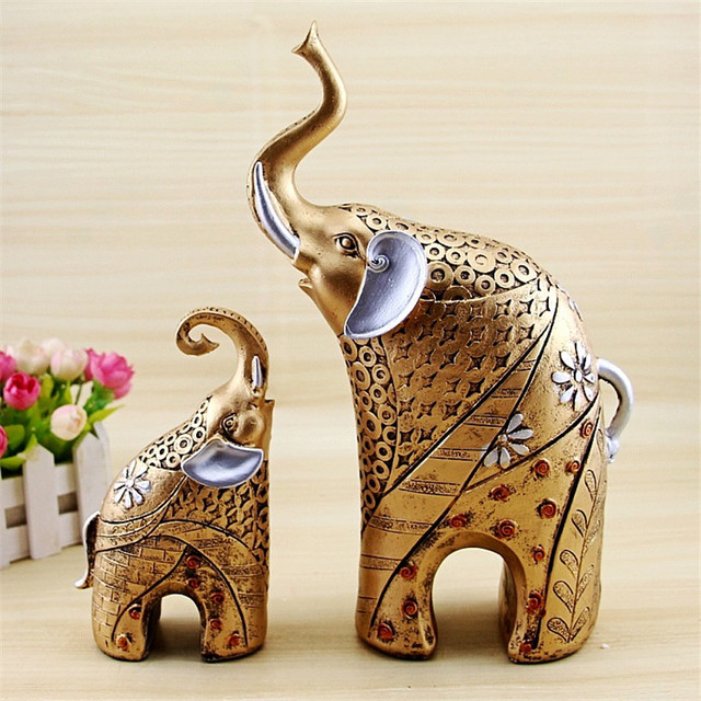 European Style Elephant Statue Crafts , Animal Ornaments