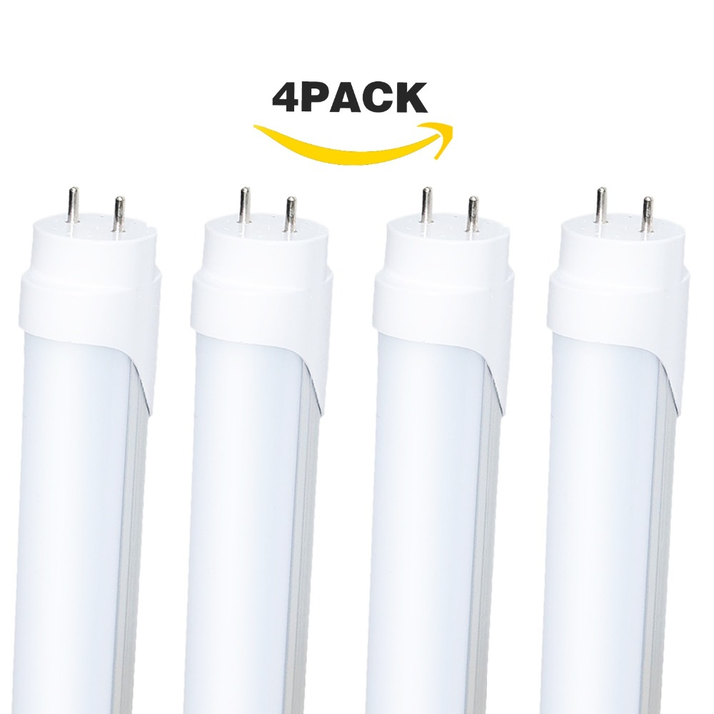 Ampoule à Tube LED, R17D 4FT 20 W T5/CW/HO droit pour la vente ampoule de remplacement de congélateur refroidisseur, inventaire Local des états-unis (4-Pack 5500 k