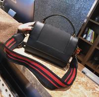 Brief Fashion Stripe Shoulder Strap Pu Leather Women Shoulder Bag 1929 Fashion Woman Crossbody Bag Christmas