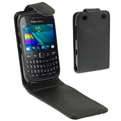 Hot Sales Vertical Flip Leather Case for BlackBerry Curve 9220 Black