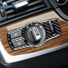 Скорости полета для BMW F10 F07 F01 F25 F26 LHD углеродного волокна автомобиля крышка переключателя фар отделкой наклейки 5 серии автомобильные аксессуары для укладки