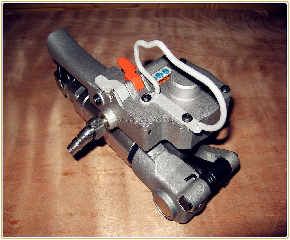 Commercio all'ingrosso-- (Tensione:> = 3500N) AQD-19 Pneumatico portatile PET e PP reggiatrice manuale / Saldatrice per reggette in plastica per 13-19mm