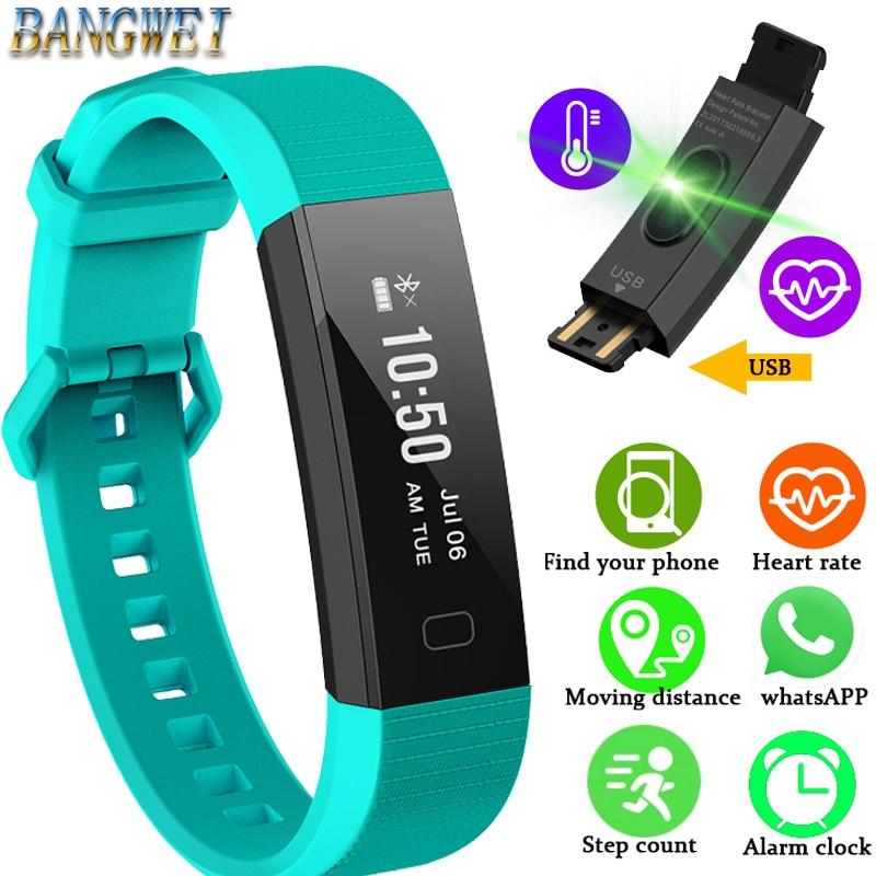 2018 New Men Women Fitness Bracelet Sports Pedometer Blood Pressure Monitoring Anti-lost Reminder Smart Wristband PK mi band 3