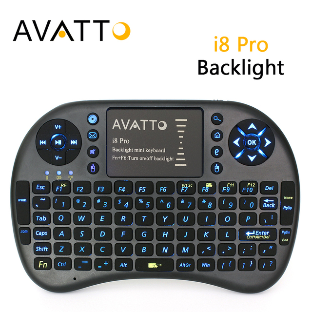 9c9b4df2d53 Spanish/Hebrew/Russian/English Backlight i8 Pro Mini Keyboard Wireless  TouchPad Handheld Air
