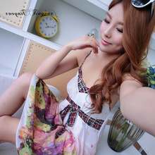 Free size nightgowns & sleepshirts sleepwear female polyester knee-length breathable women dress 2 colors