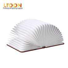 [LTOON]Creative Foldable Pages Led Book Shape Night Light Lighting Lamp Portable Booklight Usb Rechargeable Table Book Light gif
