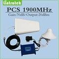 1900 Mhz PCS 1900 PSC 70dB de Ganho do Amplificador de sinal Repetidor de Sinal de reforço de sinal com Antena e Cabo