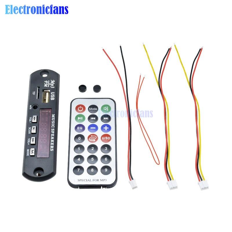 Mp3-player Bluetooth Audio Decoder Board Modul Mp3 Player Led Mp3 Wma Wav Decoder Board Für 12 V Usb Tf Fm Für Auto Audio Lautsprecher