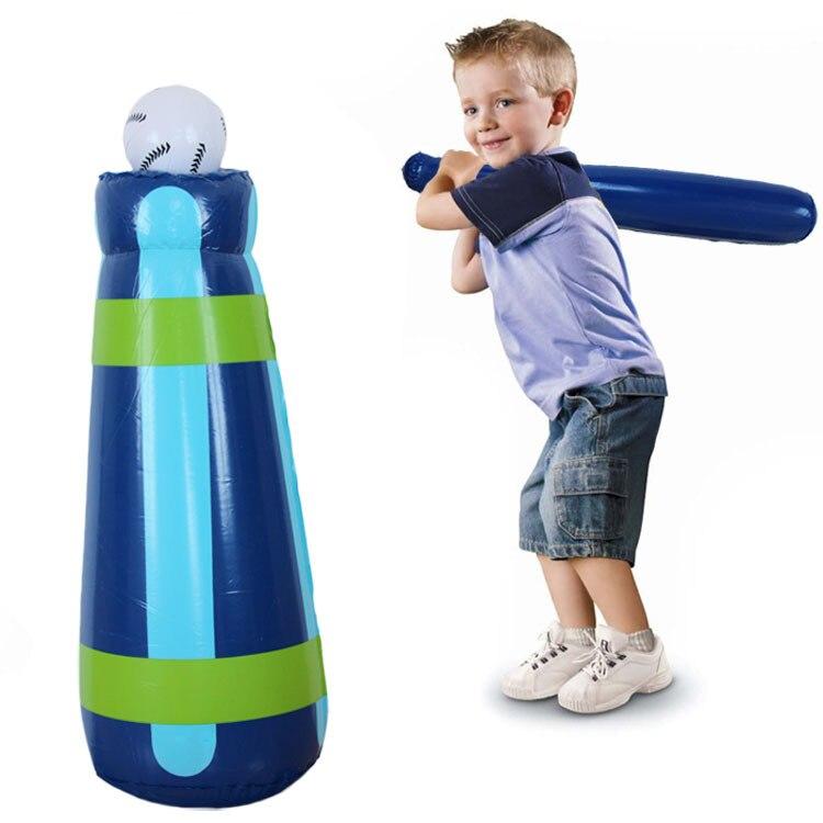 2016 Yeni Ücretsiz Nakliye Sıcak Satış Şişme Beyzbol Tumbler Oyuncaklar Çocuklar Oyuncak Parti Dikmeler Açık Oyun Oyuncak Çocuklar Için