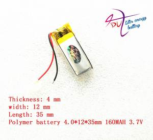 Lithium-Polymer-Battery Bluetooth-Headset 160mah with Protection-Board for Digital-Products