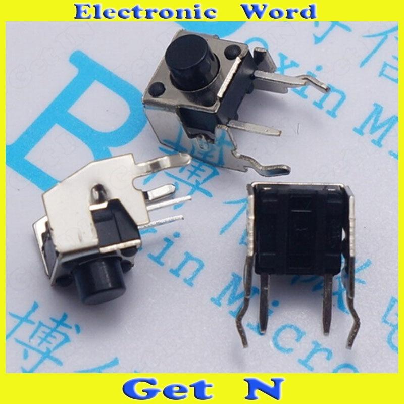 100pcs Horizontal Band Stand Switch 6 9mm Touch Switch Button Switch 2pin 6
