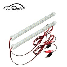 AutoLeader 12V 30cm Car Clear LED 5630 SMD Daytime Running Light Interior Strip Light Bar Van Caravan Fish Tank Auto Light