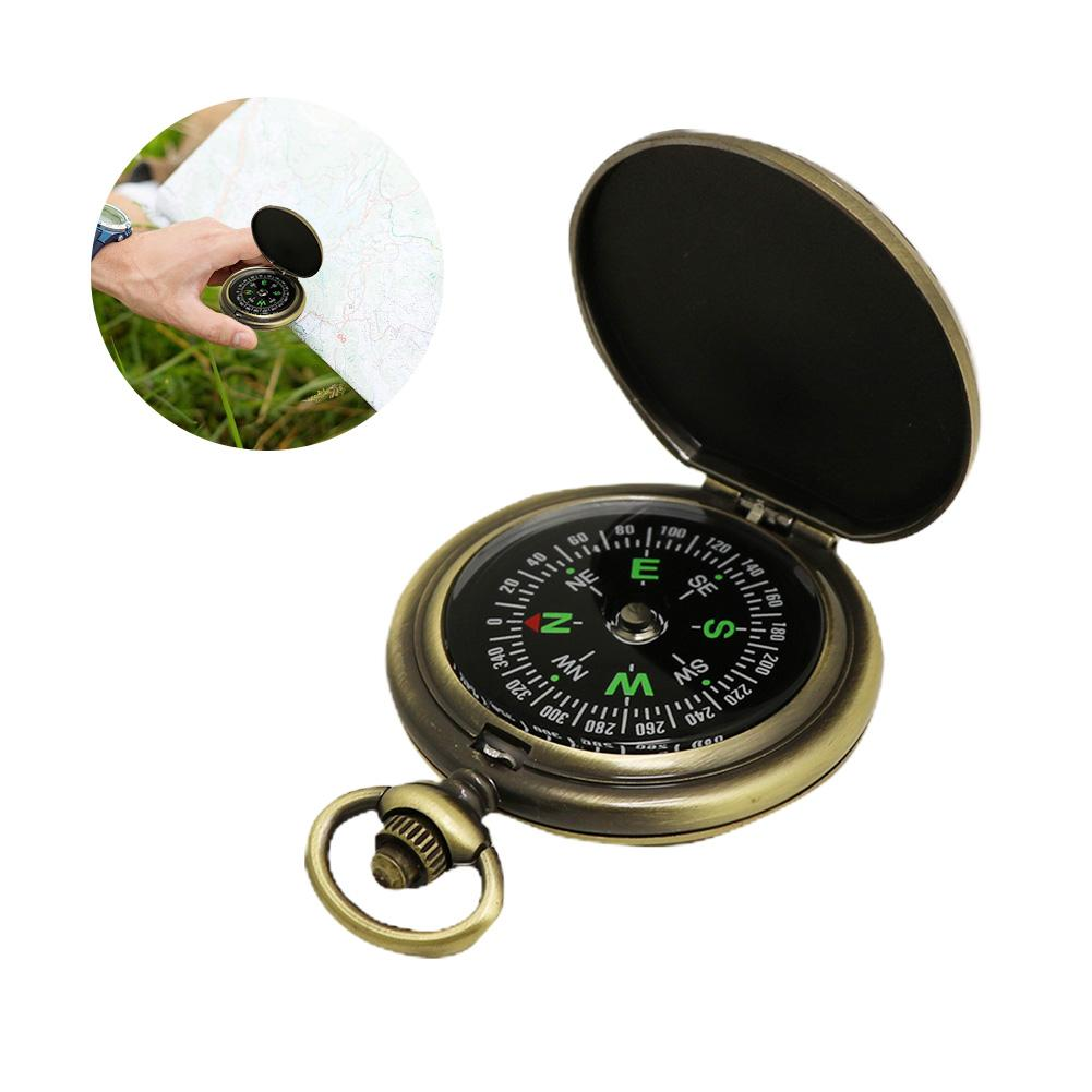 Retro Pocket Watch Compass Zinc Alloy Retro Style Exquisite Appearance Gifts Outdoor Sports Mountaineering Tourism