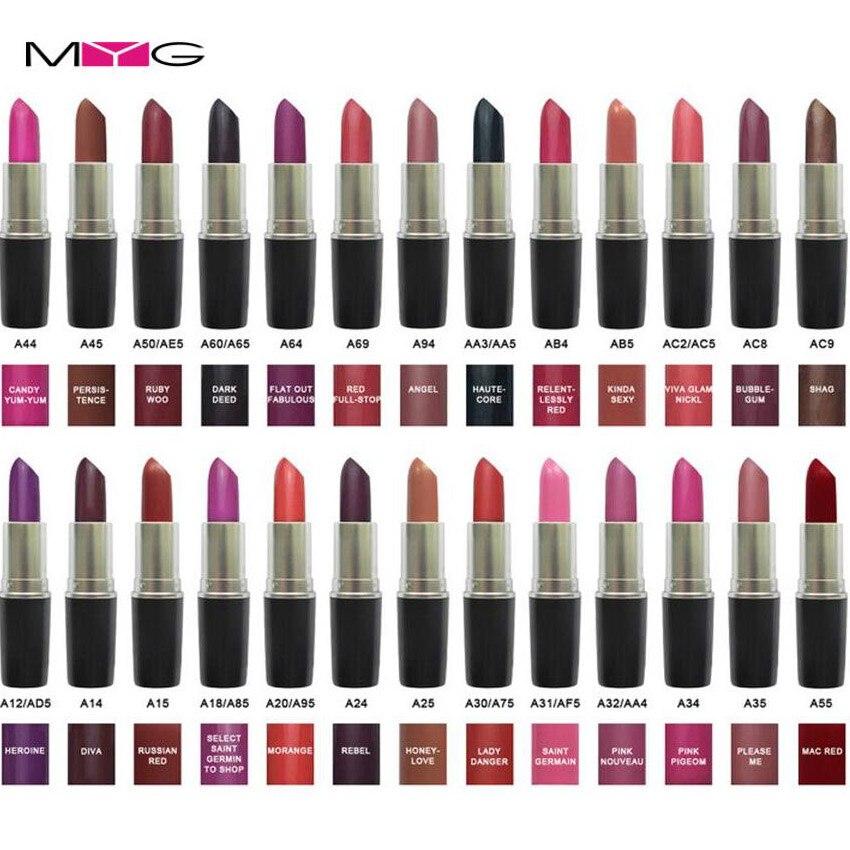 High Quality New Pure Matte Lipstick Long Lasting Ruby Woo Honey love Angel Red lip stick Aluminum tube @@!! 33 Color Choose lip duo набор для макияжа губ ruby woo ruby woo