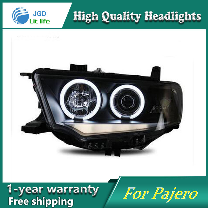 high quality Car styling case for Mitsubishi Pajero sport 2011-2013 Headlights LED Headlight DRL Lens Double Beam HID Xenon high quality car styling case for mitsubishi lancer ex 2009 2011 headlights led headlight drl lens double beam hid xenon