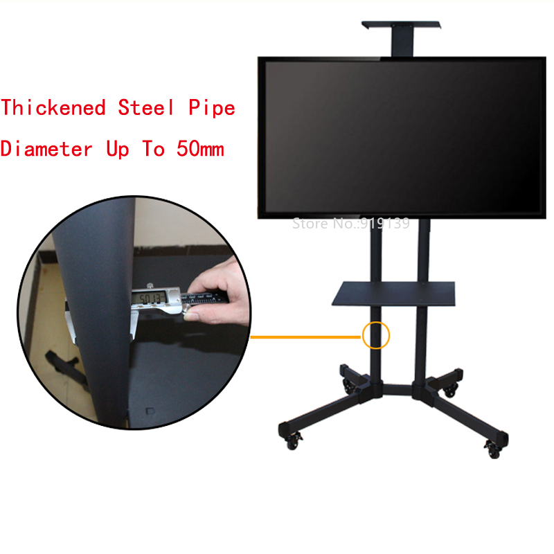 Portable Flat Screen Tv Stand Movable Plasma Television Floor Tripod