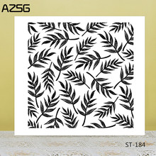 AZSG Slender Willow Leaves Style Clear Stamps For DIY Scrapbooking/Card Making/Album Decorative Silicon Stamp Crafts