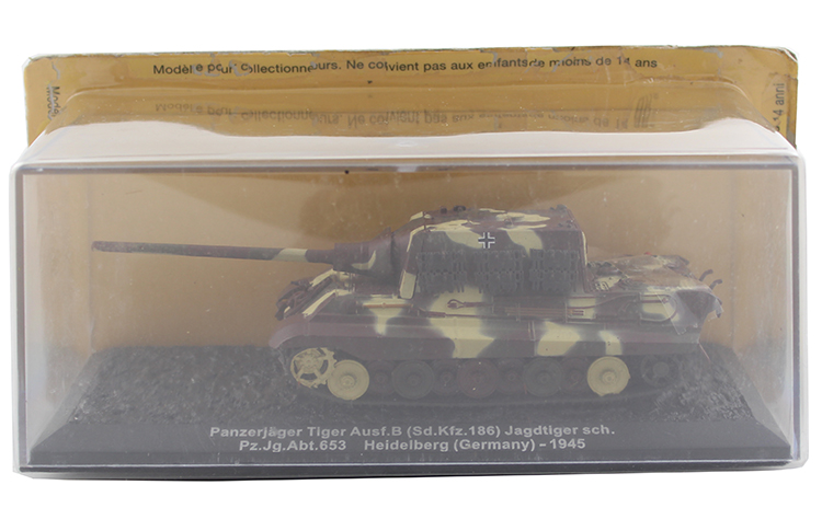 IXO 1/72 the German army Tiger Hunter heavy tank fighter model Alloy collection model Holiday gift 1 30 wwii german mechanized forces captured the urban combat scenarios alloy model suits the scene fm
