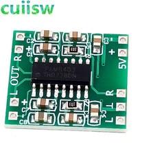 Placa amplificadora de potência, 5 pçs/lote pam8403 super mini placa digital amplificador de potência classe d 2*3 w alta usb 2.5 ~ 5 v