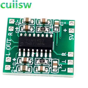 5pcs/lot PAM8403 Super mini digital power amplifier board miniature class D power amplifier board 2 * 3 w high 2.5 ~ 5 v USB
