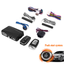 PKE Keyless Entry Engine Start Alarm System Push Button Remote Starter Stop engine Auto one start stop button system 5