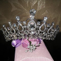 Bridal Wedding Tiara And Crowns Hair Accessories Crystal Rhinestone Queen Pageant Prom Tiara Hair Piece Ornament
