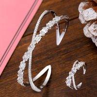GODKI Luxury Trendy Jewelry Sets For Women Wedding Zircon Crystal CZ Dubai Bridal Bangle Ring Sets aretes de mujer modernos 2019