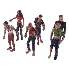 6 Pcs Walking Corpses Model Terror Zombies Kids Children Action Figure Toys Dolls Assembly Models