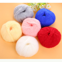 Luxury Soft Angola Mohair Cashmere Wool Yarn Skein 100g 6 Colors Baby Handmade Supplies High Quality