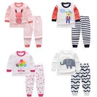 Детская одежда пижамные комплекты для больших мальчиков и девочек пижама с единорогом, детская одежда для сна хлопковая одежда для сна Дома...