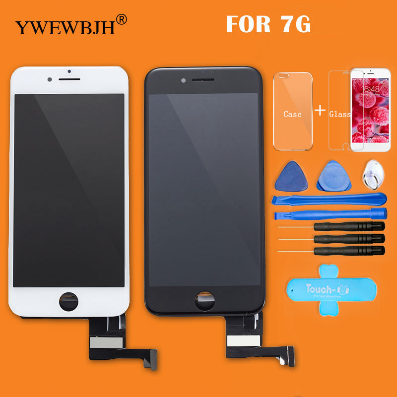 YWEWBJH Parts 10pcs lot AAA LCD Touch Screen For iphone 7 digitizer Assembly with 3D touch