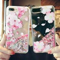 Für iPhone 8 7 plus Fall Luxus Glitter Flüssige Treibsand Liebe pailletten Abdeckung Telefonkasten für iPhone 6 splus 7 8 plus Hard neue