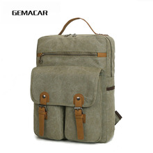 Casual Unisex Laptop Bag Men And Women Retro High Quality Backpack Holiday Simple Travel Bagpack Youth Multifunction Wear