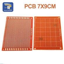 10 Uds 7x9cm 7*9cm prototipo de un solo lado 2,54mm PCB tablero universal Experimental placa de cobre de baquelita placa de circuito