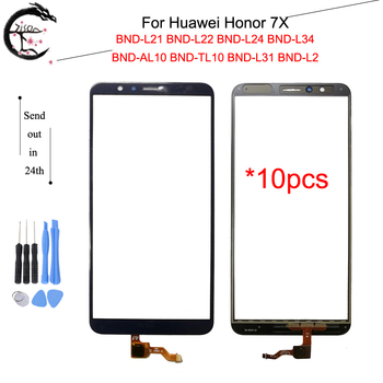 10PCS Touch Panel For Huawei Honor 7X BND-L21 BND-L22 BND L24 L34 Touch Screen Glass With Flex Cable Honor 7X Sensor Digitizer фото