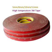 33M/lot 3M high temperature Tape 5/8/10/12 mm Automobiles For  Double Side Adhesive Tape Car Exterior Tape Car Stickers 5 rolls 9mm 50 meters 3m double face high adhesion adhesive black tape for home appliance control panel car parts screen fix