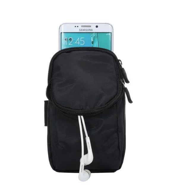 Casual Sport Double Pockets Waist Cover Arm Band Case For Samsung galaxy s6 s7 edge s5 s4 mini s3 note 4 7 Belt Pouch Zipper Bag
