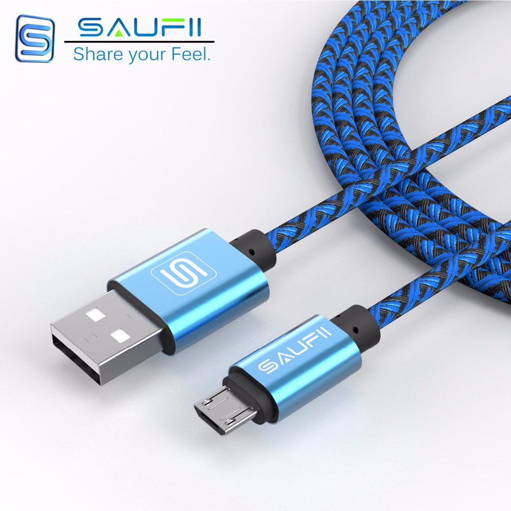 best sneakers 760ad 5b18d US $2.48 |Saufii 1m 2m 3m Nylon braided Line and Metal Plug Micro USB Cable  for iPhone 6 6s Plus 5s iPadmini / Samsung / Sony / HTC-in Mobile Phone ...
