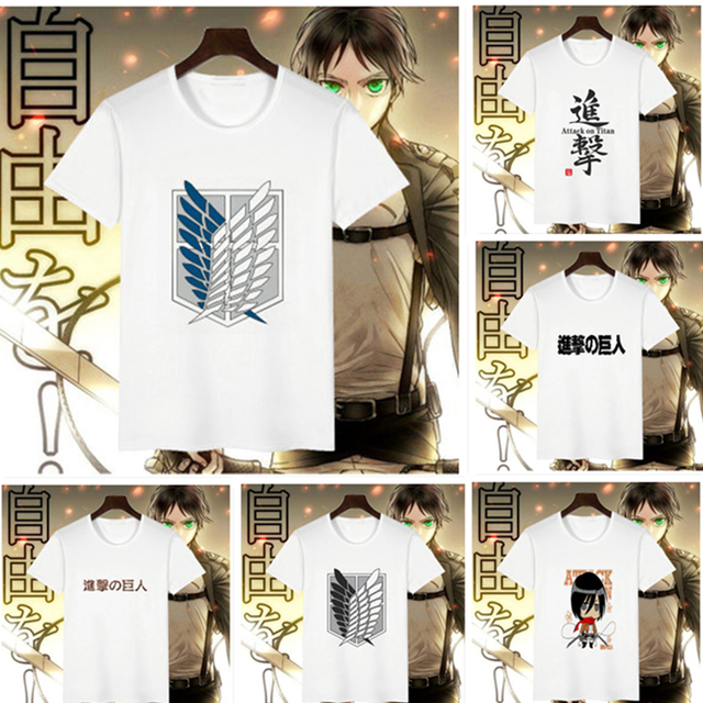Attack on Titan Men Woman Cosplay Costume T-Shirt